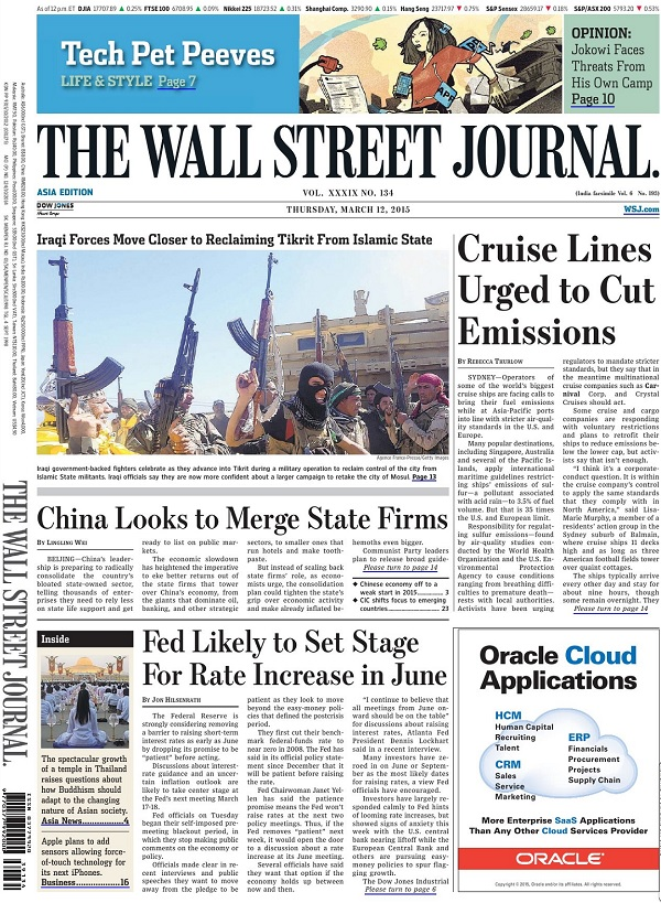 The Wall Street Journal - Thursday, 12 March 2015 / Asia free download