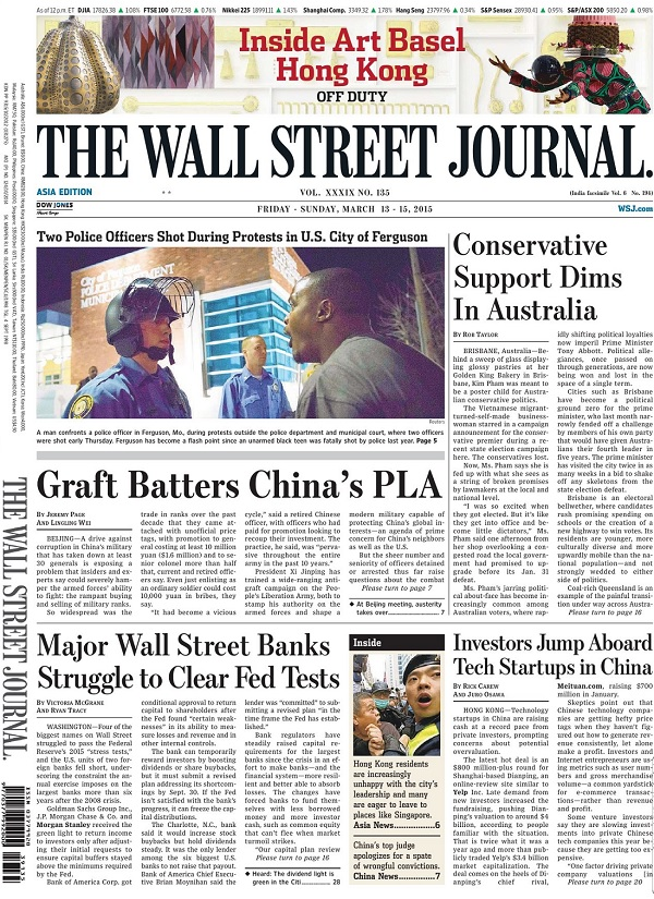The Wall Street Journal - Friday-Sunday, 13-15 March 2015 / Asia free download