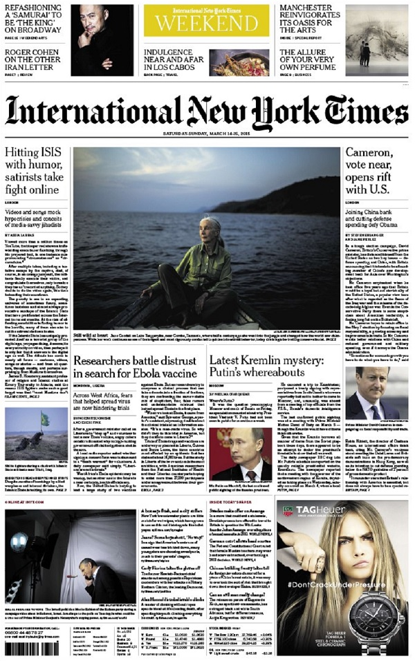International New York Times - Saturday-Sunday, 14-15 March 2015 free download