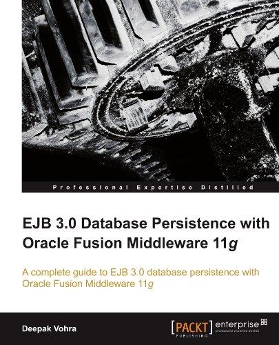 EJB 3.0 Database Persistence with Oracle Fusion Middleware 11g free download