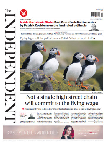 The Independent March 16 2015 free download