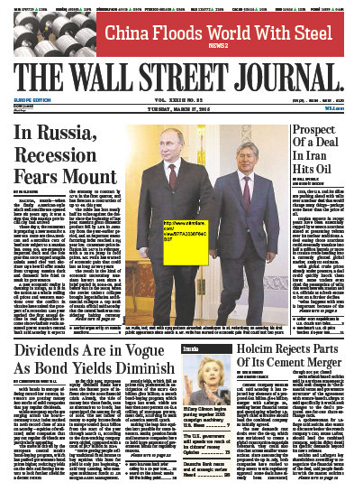 Wallstreet Journal Europe 17 March 2015 free download