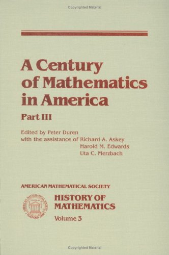 A Century of Mathematics in America, Part 3 free download