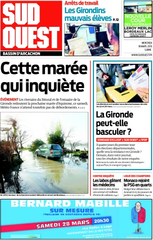 Sud Ouest du Mercredi 18 Mars 2015 download dree