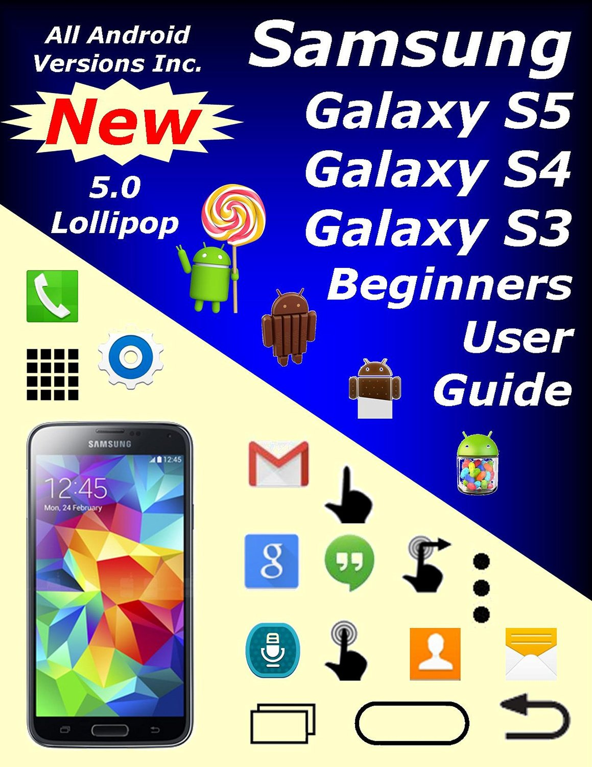 Samsung Galaxy S5, S4, & S3 Beginners User Guide free download