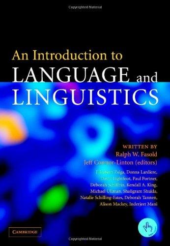 An Introduction to Language and Linguistics free download