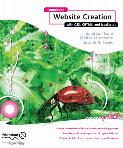 Foundation Website Creation with CSS, XHTML, and javascript by Meitar Moscovitz free download
