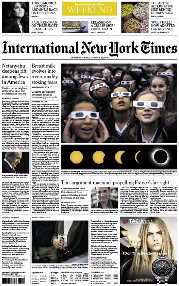 International New York Times - Saturday-Sunday, 21-22 March 2015 free download