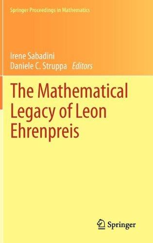 The Mathematical Legacy of Leon Ehrenpreis free download
