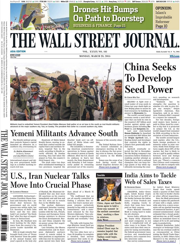 The Wall Street Journal - Monday, 23 March 2015 / Asia free download