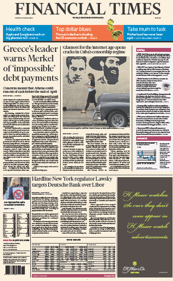 Financial Times Europe 23 March 2015 free download