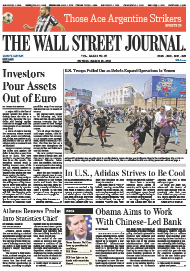 Wallstreet Journal Europe 23 March 2015 free download