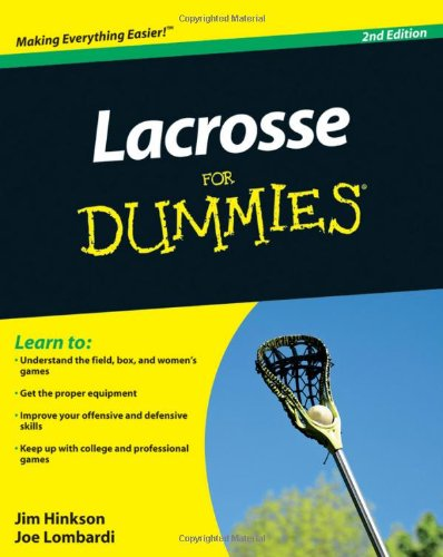 Lacrosse For Dummies free download