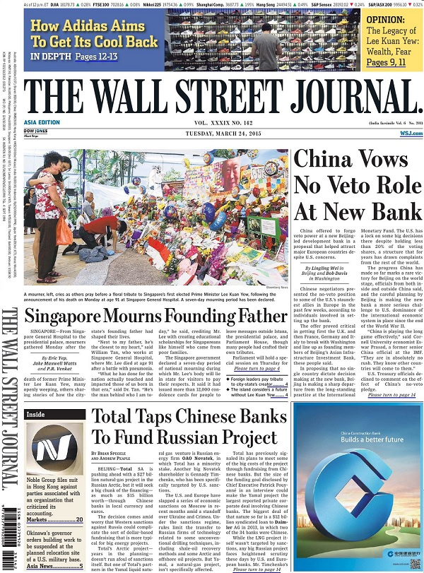 The Wall Street Journal - Tuesday, 24 March 2015 / Asia free download