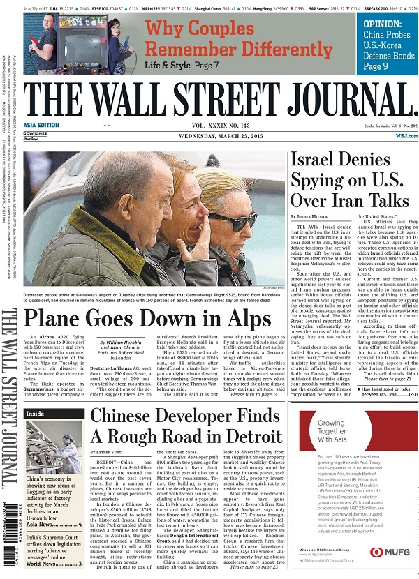 The Wall Street Journal - Wednesday, 25 March 2015 / Asia free download