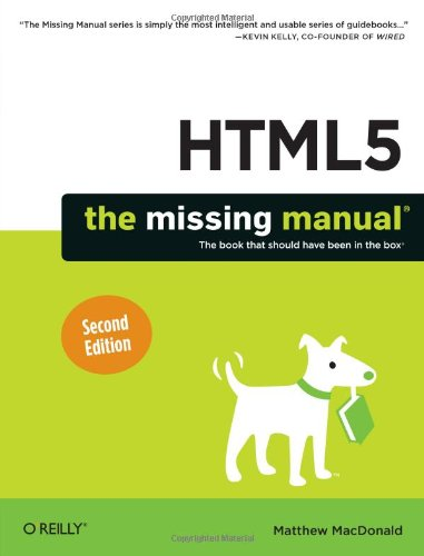 HTML5: The Missing Manual (2nd edition) free download