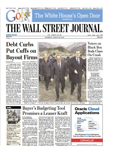 The Wall Street Journal (Europe) March 26 2015 free download