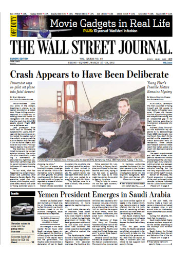 The Wall Street Journal (Europe) March 27 2015 free download