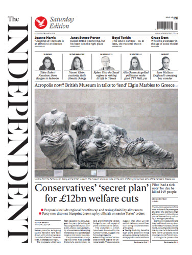 The Independent March 28 2015 free download
