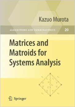 Matrices and Matroids for Systems Analysis free download