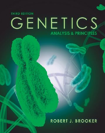 Genetics: Analysis and Principles, 3 edition free download