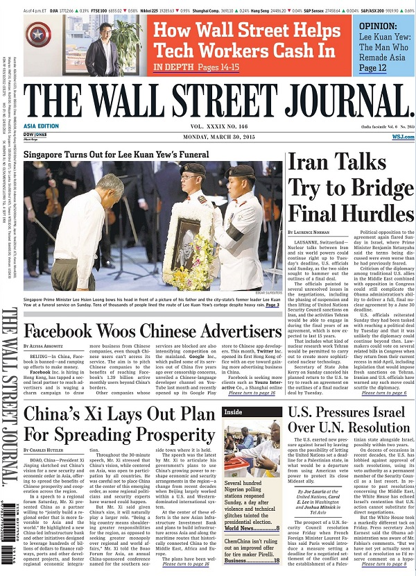 The Wall Street Journal - Monday, 30 March 2015 / Asia free download