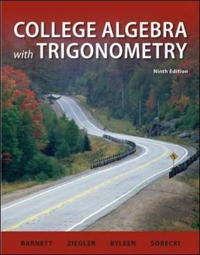 College Algebra with Trigonometry (9th edition) free download