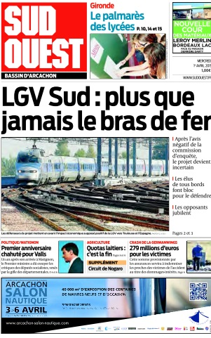 Sud Ouest du Mercredi 1 Avril 2015 free download