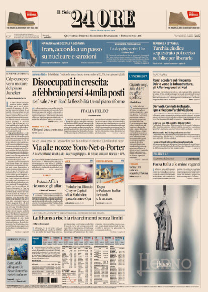Il Sole 24 Ore - 01.04.2015 free download