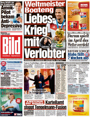Bild Zeitung vom 02 April 2025 free download