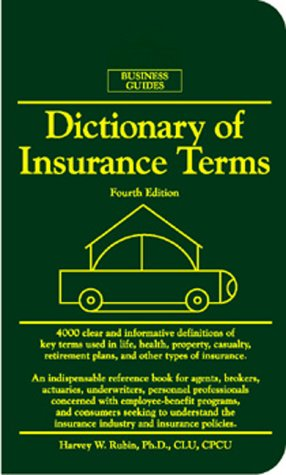 Dictionary of Insurance Terms, 4th edition free download