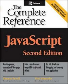 javascript: The Complete Reference, Second Edition by Thomas Powell free download