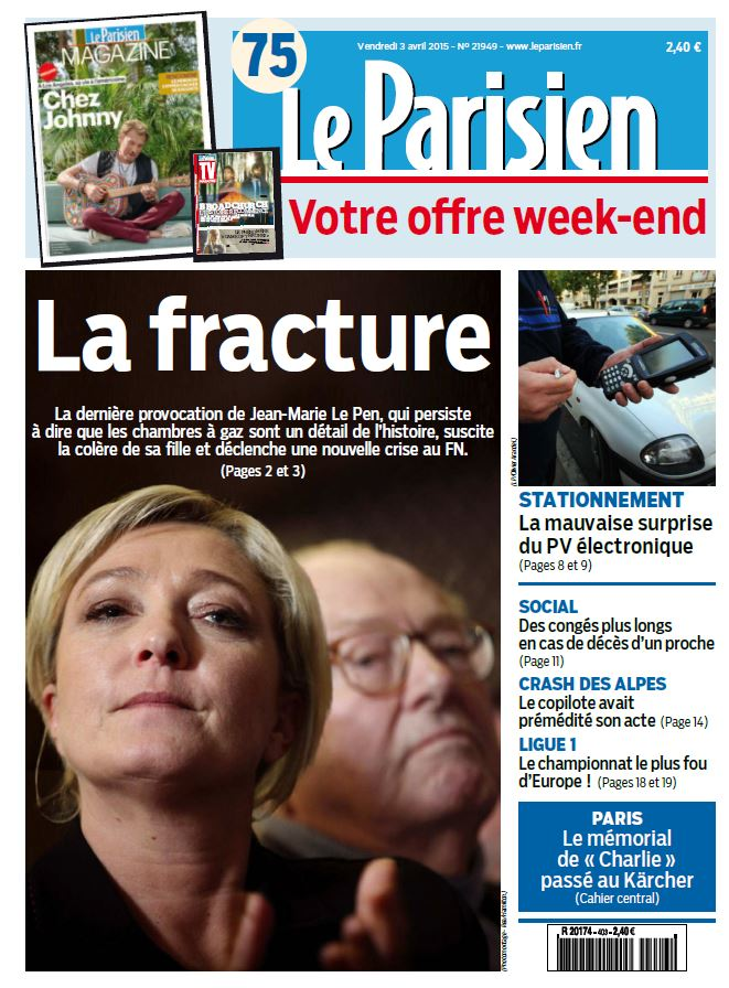 Le Parisien + Journal de Paris du Vendredi 3 Avril 2015 free download