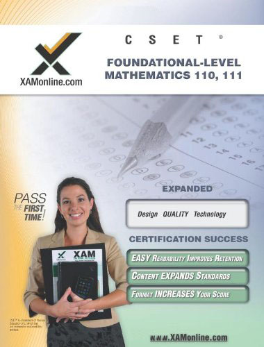 CSET Foundational-Level Mathematics 110, 111 Teacher Certification Test Prep Study Guide free download