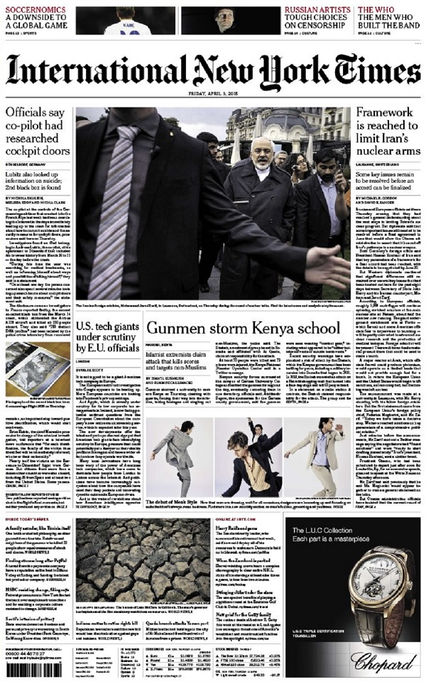 International New York Times - Friday, 03 April 2015 free download