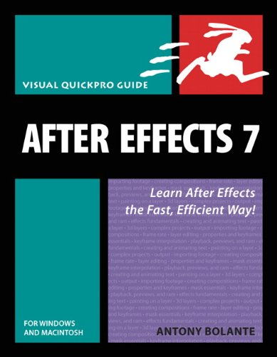 After Effects 7 for Windows and Macintosh: Visual QuickPro Guide free download