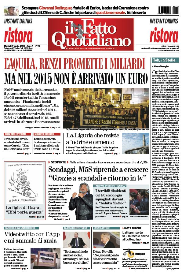 Il Fatto Quotidiano (07-04-15) free download