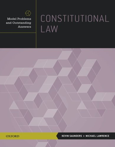 Constitutional Law: Model Problems and Outstanding Answers free download