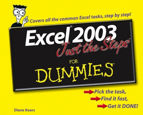 Excel 2003 Just the Steps For Dummies free download