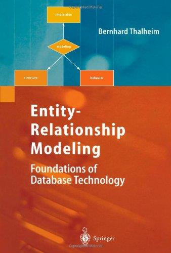 Entity-Relationship Modeling: Foundations of Database Technology free download
