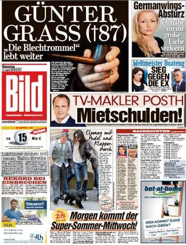 Bild Zeitung vom 14 April 2015 free download