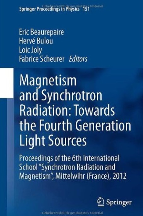 Magnetism and Synchrotron Radiation: Towards the Fourth Generation Light Sources free download