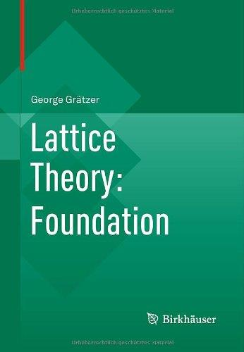 Lattice Theory: Foundation free download