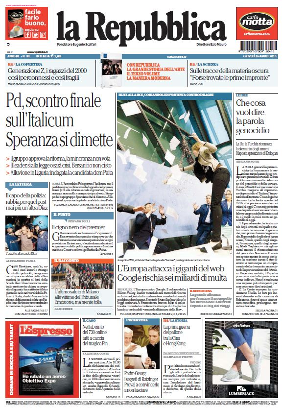 La Repubblica (16-04-15) free download