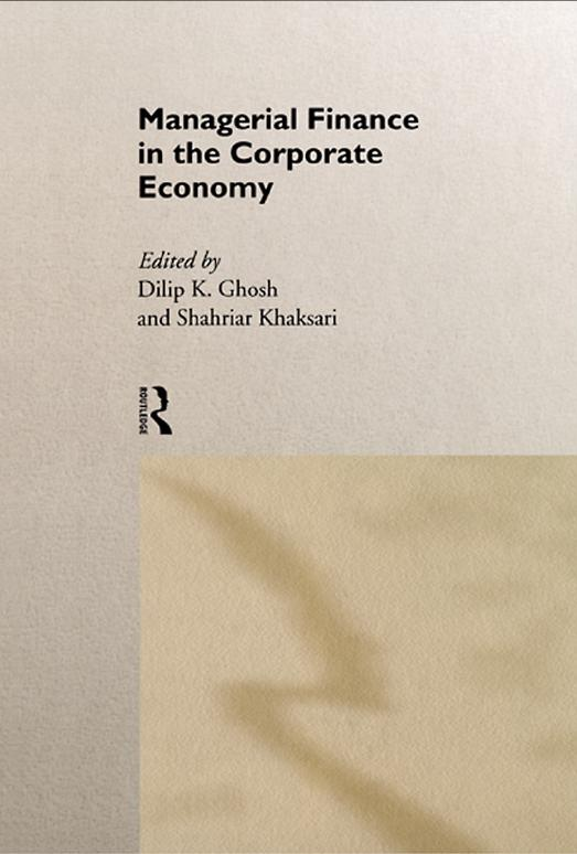 Managerial Finance in the Corporate Economy free download