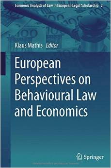 European Perspectives on Behavioural Law and Economics free download