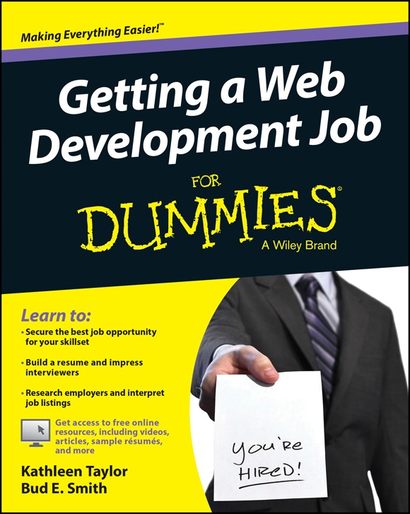 Getting a Web Development Job For Dummies free download