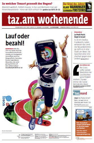 Tageszeitung TAZ vom 18 April 2015 free download
