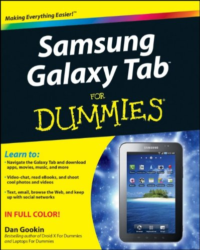 Samsung Galaxy Tab For Dummies free download
