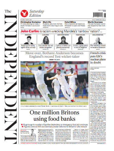 The Independent April 18 2015 free download